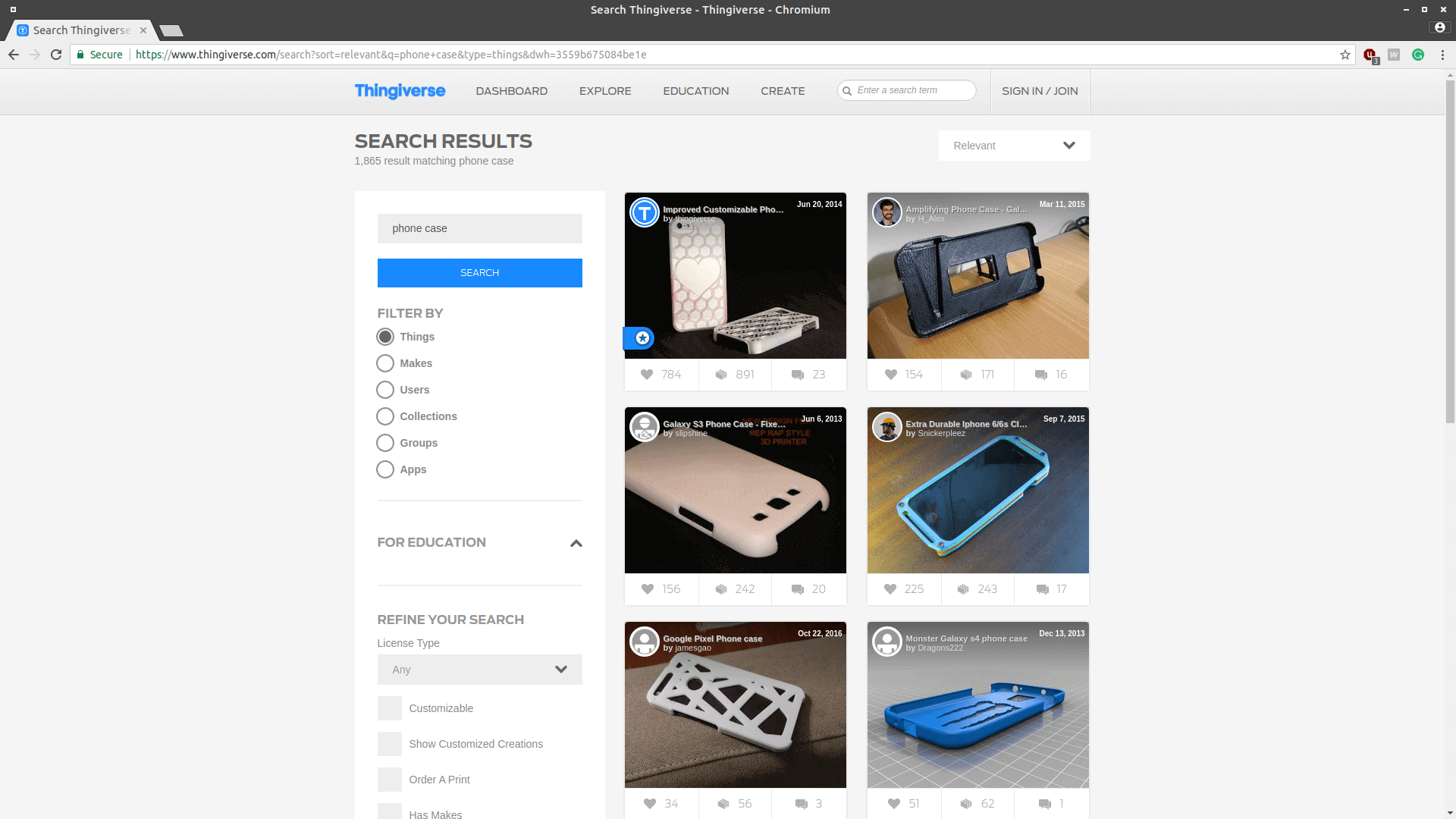 Thingiverse is the biggest repository of STL files