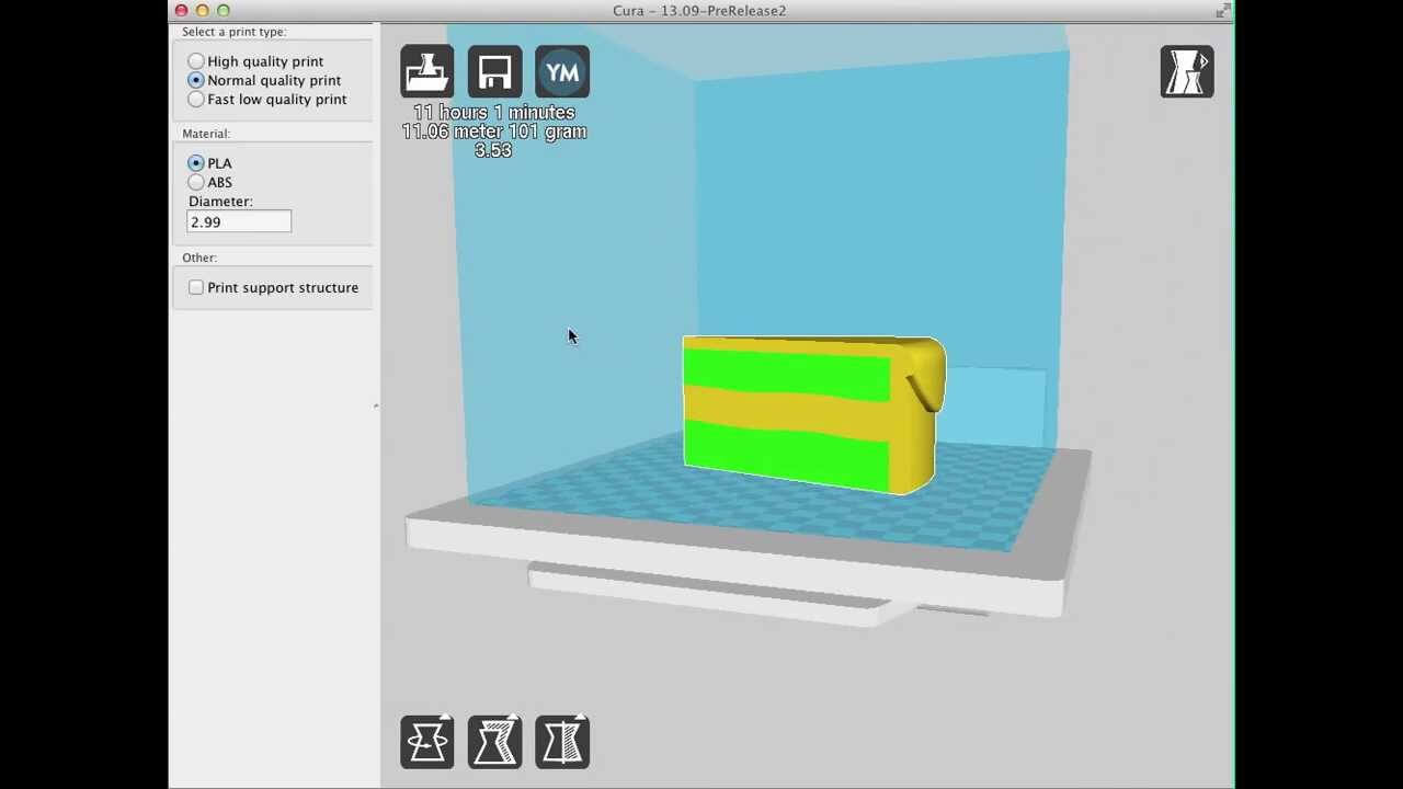 You can print dual material objects (like the one shown in the picture) using the AMF format