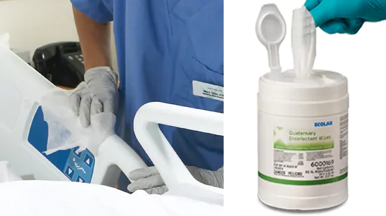 EcoLab's Quaternary Disinfectant Wipes [Source:  EcoLab ]