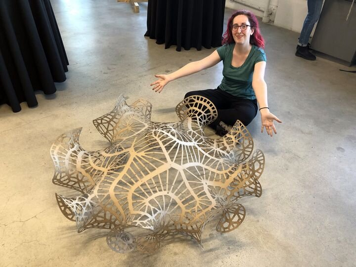 Jessica Rosenkrantz testing 2D->3D assembly processes for the Puzzle Cell Complex [Source: Nervous System]