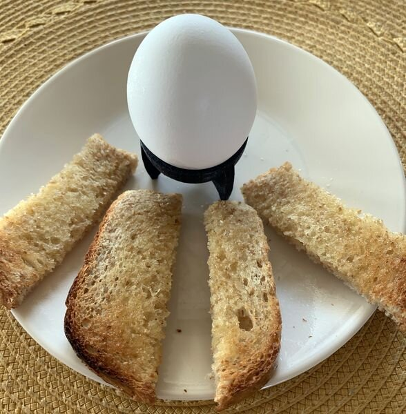 Dipping eggs, ready for breakfast [Source: Fabbaloo]